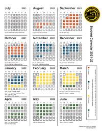 Academy Calendar 2021-22