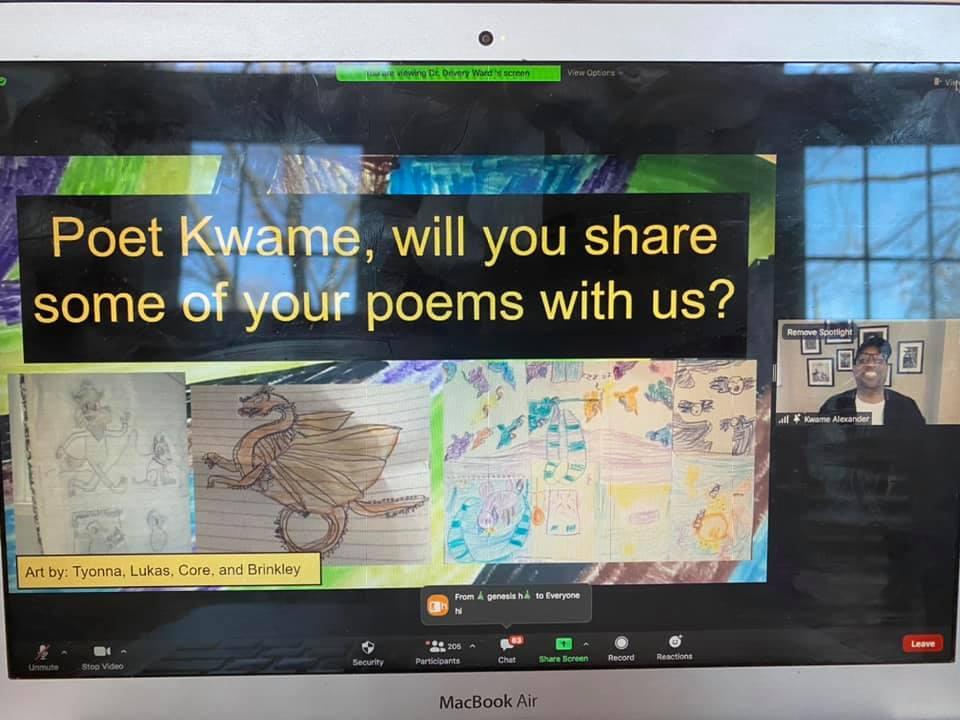 Kwame Alexander visits the Academy virtually.