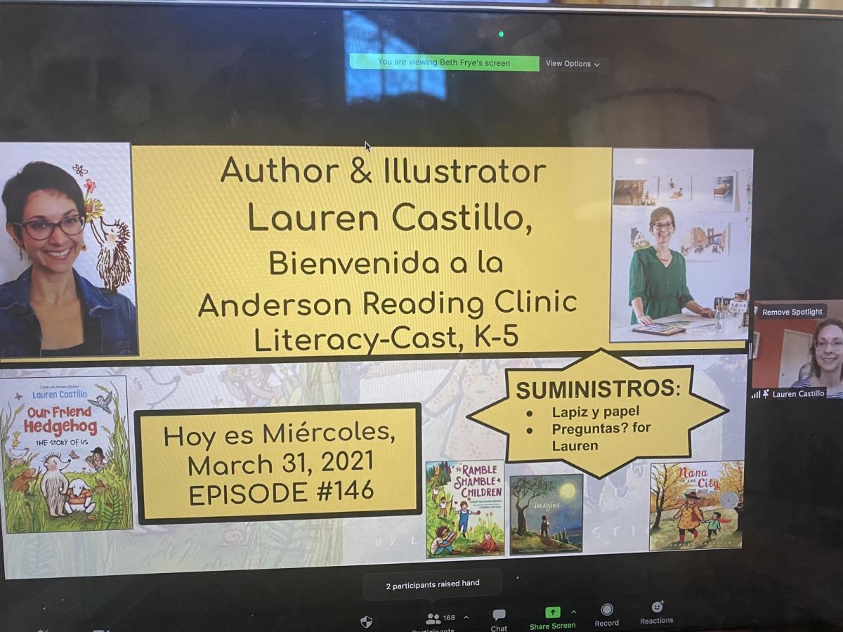 Lauren Castillo visits the Academy virtually
