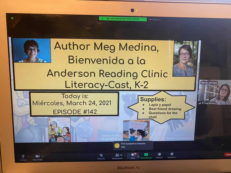 Meg Medina visits the Academy virtually