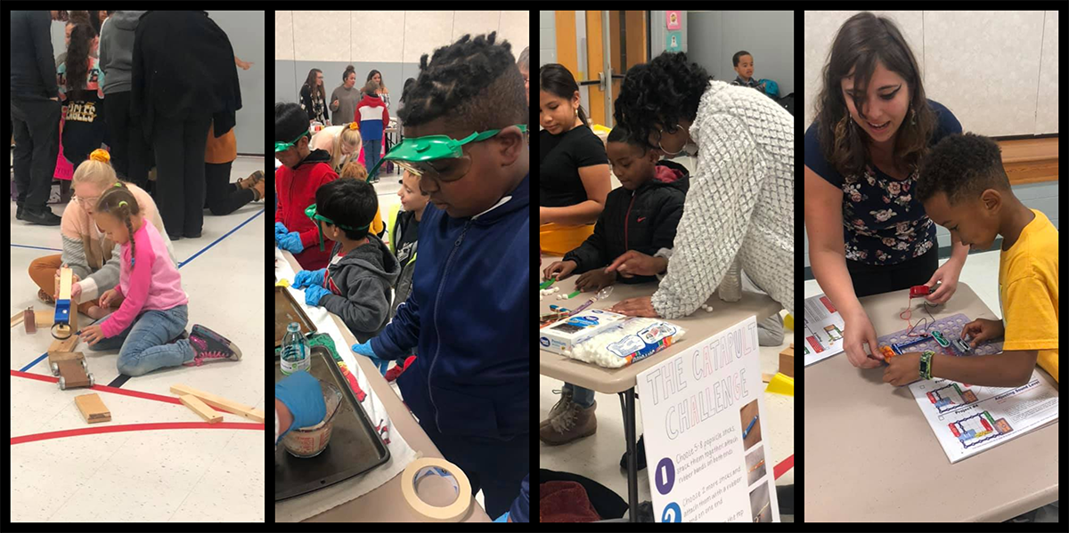 Academy and RCOE students learned about tornadoes, roller coasters and lasers at Science Night. Photos submitted