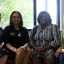The Academy at Middle Fork leadership Team. Pictured from left: Dr. Amie Snow '06 '14, Director of Curriculum and Instruction; Tasha Hall-Powell '01 '09, Academy Principal; Verschello M. Nelson, Academy Assistant Principal; and Dr. Robin Groce, RCOE Assistant Dean for the Academy. Photo by Rebekah Saylors