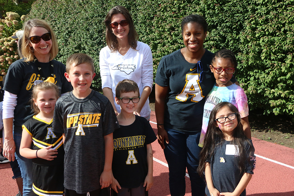 A group from the Anderson Reading Clinic attends the game. Photo by Heather Brandon